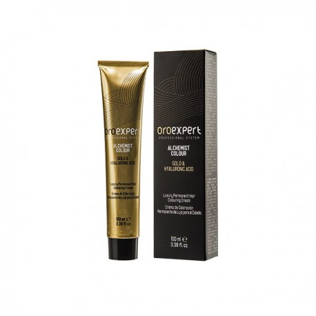 Перманентная крем-краска для волос с частицами золота и гиалуроновой кислотой 100 мл. Золотистый светлый блонд 8.3