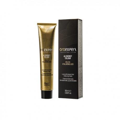 Перманентная крем-краска для волос с частицами золота и гиалуроновой кислотой 100 мл. Золотисто-медный блонд 7.34