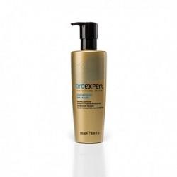 Восстанавливающий кондиционер для ослабленных или химически поврежденных волос с частицами золота и кератином, 300 мл.