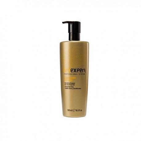 Питательный шампунь для сухих, поврежденных и ломких волос с частицами золота и аргановым маслом, 500 мл.